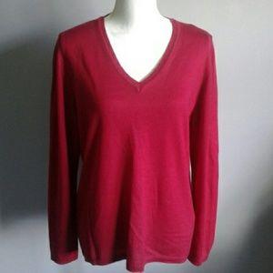 Annalaura Italian V-Neck Merino Sweater